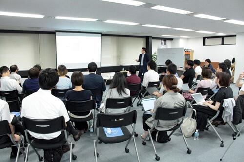 ミエルカ分科会セミナーで講演中の石川優貴氏とセミナー参加者たち