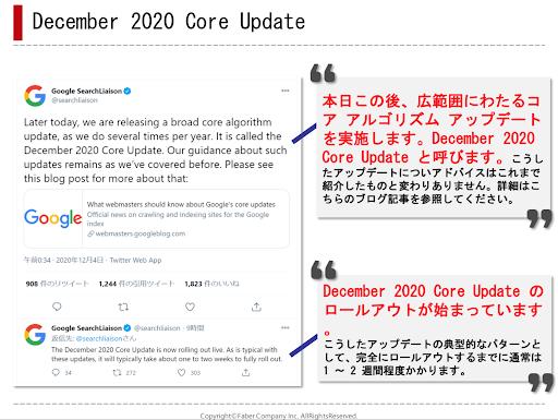 December2020CoreUpdateの傾向を説明した資料