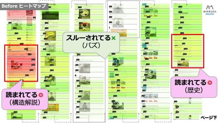 リライト前のヒートマップ