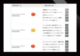 低自動低品質ページ判定による、サイト品質管理が可能。 イメージ1